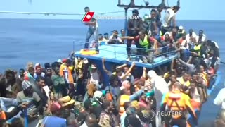 Around 4,400 migrants rescued at sea - Video