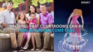 Disney Princesses Surprise 5-Year-Old Girl In Court - Video