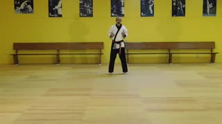 Little Samurang White Belt Blue Tip