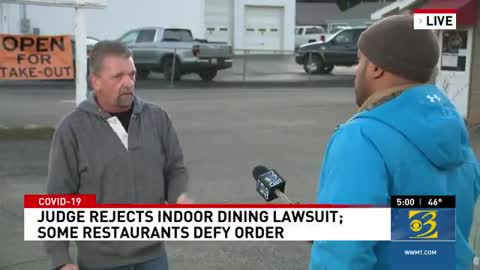 Small Business owner shows up at live broadcast and tells the truth!