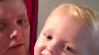 "Baby preciously says ""I love you"" to camera"
