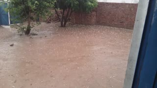 Snow with rain in pakistan  - Video