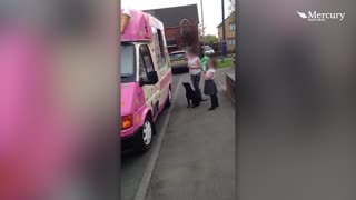 Dog Goes To Ice Cream Van - Video