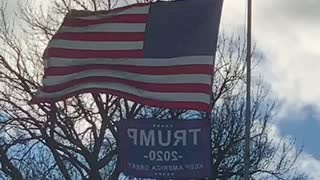 Trump flag still flying in 2021
