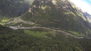 Wingsuit proximity flying over rugged terrain - Video