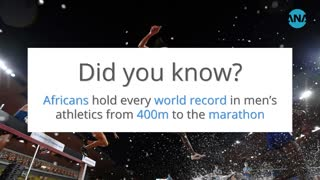 African athletes own every men's world record from 400m to marathon