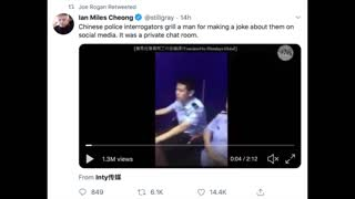 China Police Interrogate Man For Social Media Comments