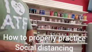 How to properly social distance