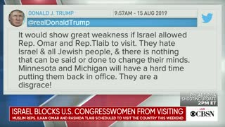 Israel Blocks TWO U.S. Congresswomen From Visiting Their Country