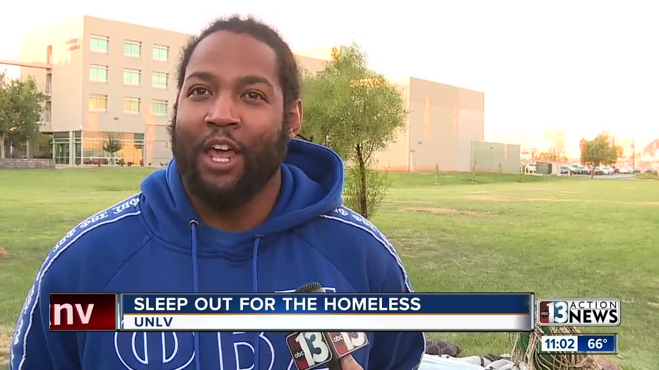 UNLV Fraternity gathers donations for homeless