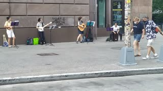 Wonderful NYC Street Music Group on a Saturday