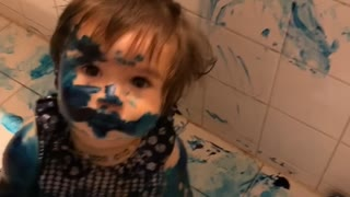 Troublesome Toddlers Make a Mess with Paint
