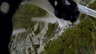 Drone crashes into mountain during scenic flight - Video