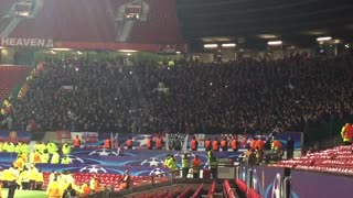 PSV fans singing the Touré song at Old Trafford after the game. - Video