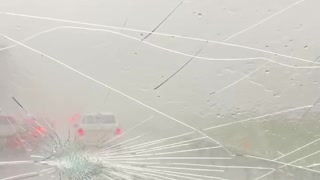 Hail Storm Wreaks Havoc on Highway