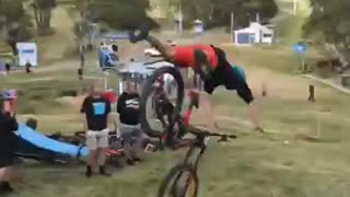 Crazy Bike Jump Doesnt Go As Planned - Video