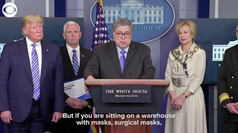 AG William Barr announces he's going after people hoarding supplies amid coronavirus outbreak