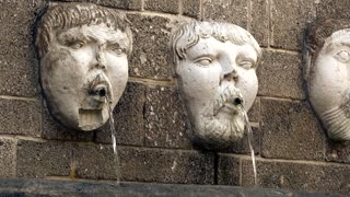Free Statue Face Water Fountain Stock Video Footage