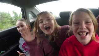 Kid wants nothing to do with Car pool Karaoke - Video