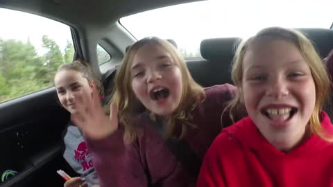 Kid wants nothing to do with Car pool Karaoke