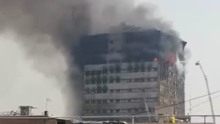 Tehran fire: Plasco building collapses, 30 feared dead -Part 1 - Video