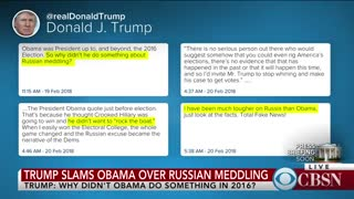 Trump Questions: Why Aren't Dems Under Investigation If Russian Meddling Took Place Under Obama - Video