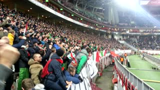 Russian Football Supporter Avoids Security - Video