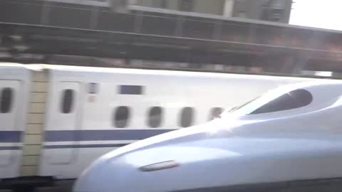 The Bullet Train (Shinkansen) in Japan