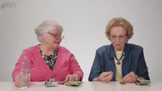 Grandmas Try The Warhead Challenge - Video