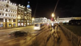 Time lapse: Saint Petersburg, Russia at night - Video
