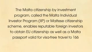 Malta citizenship scheme - Video
