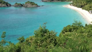 Beautiful beach in US, Virgin Islands - Video