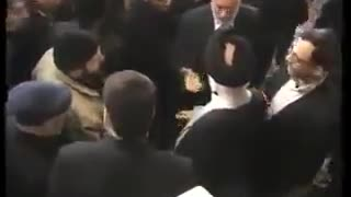 Kissing of Religion Man's Hand in Mashhad - Video