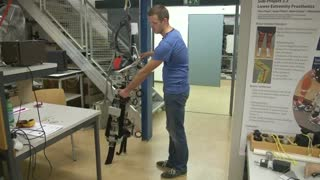 Exoskeleton research could allow paralysed to turn and climb - Video