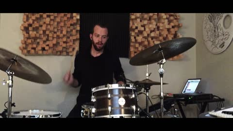 Musician's drumming performance has an intriguing twist