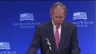 "Bush Who Remained Quiet During Obama Terms, Gives Speech: ""Bigotry Seems Emboldened"" - Video"