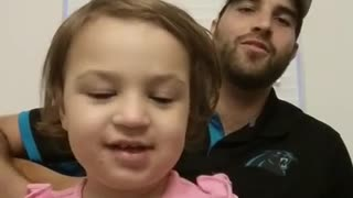 Father and daughter perform original duet - Video