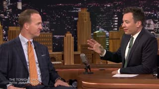 Peyton Manning Talks Eli's Sad Face on Tonight Show - Video