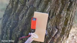 MrGear shows us how to make a trip wire alarm! - Video
