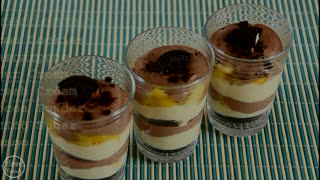 Easy Oreo, Mango And Cocoa Creamy Dessert - Video