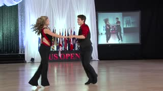 15-Year-Old Swing Dancers Execute A Flawless Routine - Video