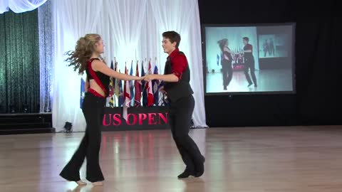 15-Year-Old Swing Dancers Execute A Flawless Routine