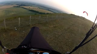 Paragliding at Dusk - Video