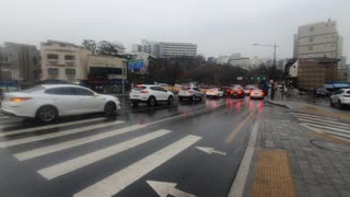 rainy Seoul South korea Video