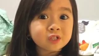 Cute baby saying good night - Video