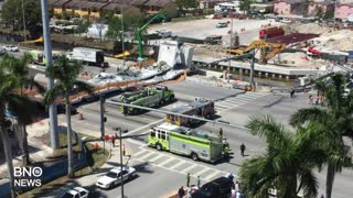 Multiple People Killed After Pedestrian Bridge Collapses at FIU - Video