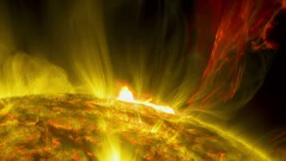 Massive sun eruption captured by NASA