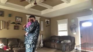 Sailors First Dance With Infant Daughter