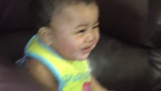 Baby doesn't fall for attempted hypnosis session