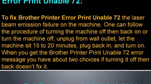 How to fix Brother Printer Error Print Unable 72|448000465291